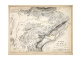 Map of the Battle of Rivoli  Published by William Blackwood and Sons  Edinburgh and London  1848