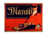 Advertisement for Manoli Cigarettes