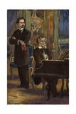 Portrait of King Ludwig II and Richard Wagner
