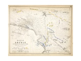 Map of the Battle of Arcole  Published by William Blackwood and Sons  Edinburgh and London  1848
