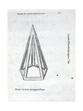 Pyramis Laterata Pentagona Vacua  Illustration from 'Divina Proportione' by Luca Pacioli…