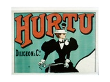 Hurtu Bicycle Poster  Top Half Only  C1899