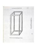 Columna Laterata Quadrangula Vacua  Illustration from 'Divina Proportione' by Luca Pacioli…