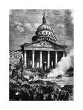 The Paris Panthéon as the Hq of the Paris Commune  Late C19th