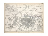 Map of Paris and its Environs  Published by William Blackwood and Sons  Edinburgh and London  1848