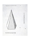 Pyramis Laterata Pentagona Solida  Illustration from 'Divina Proportione' by Luca Pacioli…