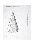 Pyramis Laterata Pentagona Solida  Illustration from 'Divina Proportione' by Luca Pacioli…