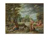 Adam at Work in a Field  from the Story of Adam and Eve
