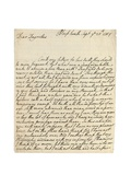 Autograph Letter to Solomon Dayrolles  Blackheath  25th September 1754