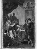 Emperor Theodosius I the Great Receiving the Pardon from St Ambrose  Archbishop of Milan  C1745