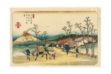 Distant View of Mount Asama from Urawa Station  Station 4 from the Series 'stytations of the Kiso…