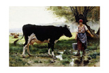 A Milkmaid with Her Cow