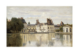 Fontainebleau - View of the Chateau and Lake; Fontainebleau - Le Chateau Vu De La Piece D'Eau