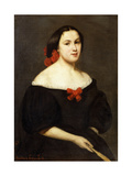 Woman with a Fan; Femme a L'Eventail  1861
