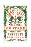 Advertisement for Sadler's Old English Mustard