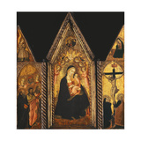 A Portable Triptych with the Madonna and Child Enthroned with Angels
