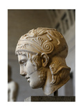 Head of a Statue of Ares Roman Sculpture after Original of About 430 BC Glytothek Munich