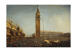 The Piazza San Marco  Venice  from the Torre Dell'Orologio  C1737-9