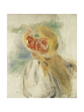 Young Girl with Flowers in Her Hat; Jeune Fille Au Chapeau Fleuri, C.1900-1905 Giclée par Pierre-Auguste Renoir