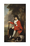 Portrait of Master Day  Seated Full Length in a Red Jacket and Breeches  and a White  Frilled…