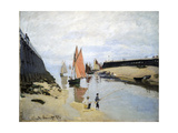 Breakwater at Trouville  Low Tide  1870