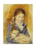 Girl with Dog; Fillette Au Chien  C1875