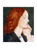 Portrait of Elizabeth Siddal  in Profile to the Right