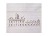 Castle Howard  Yorkshire: a Schematic Pencil Sketch Showing the Development of the Forecourt…