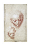 Two Studies of the Head of the Virgin