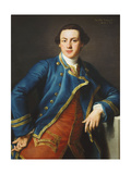 Portrait of Sir John Armytage  2nd Bt (1732-1758)  Half-Length  in Blue Coat and Crimson…