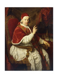 Portrait of Pope Benedict Xiv (1675-1758)  Seated Three-Quarter-Length  His Right Arm Raised in…