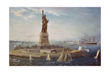 Liberty Island  New York Harbor  1883