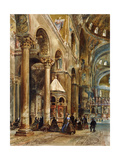 Interior of the Basilica Di San Marco  Venice  1884