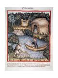 Tacuinum Sanitatis 14th Century Medieval Handbook of Health Fishermen in a River