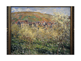 Claude Monet (1840-1926) Plum Trees in Blossom at Vetheuil  1879