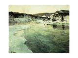 Winter on the Mesna River Near Lillehammer  C1905-06