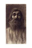 Portrait of a Bearded Man; Brustbild Eines Bartigan Mammes Von Vorne  C1894
