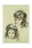 Two Studies of Ellen  the Artist's Daughter