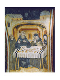 The Miracle of the Rain after the Intervention of St Scholastica During the Meal with Her…