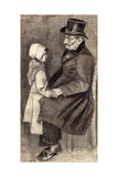 Sitting Man with Little Girl; Homme Assis Avec Fillete  1882