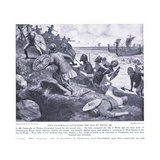King Ceadwalla Attacking the Isle of Wight Ad686  1920's