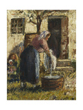 The Washerwoman; La Laveuse  C1898