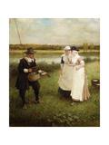 Isaac Walton and the Milkmaids  1888