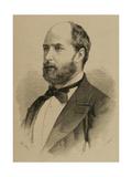 """Vicente De La Hoz Y Liniers (1831-1886) Journalist Editor of the Newspaper """"La Fe"""" Engraving"""