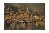 View of the Ghats at Benares  1873