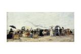 Trouville  Beach Scene; Trouville Scene De Plage  1879