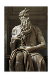 Moses 1513-1515 Statue by Michelangelo (1475-1564) Marble