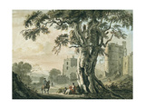 An Old Castle  with Horseman  C1798-1809