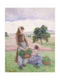 Peasants Carrying Baskets; Paysanne Portant Au Panier  1888