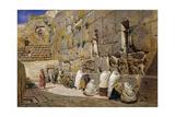 The Wailing Wall  Jerusalem  1863